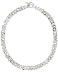 Pearls Before Swine Silver Large Sliced Link Necklace - Metallic