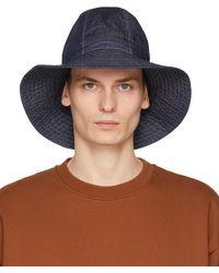 Engineered Garments - インディゴ Dome ハット - Lyst