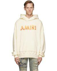 Amiri - オフホワイト Flame フーディ - Lyst