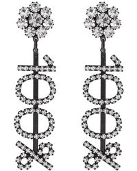 8c0053fc8 Ashley Williams Black And Transparent 100% Clip-on Earrings