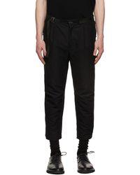 The Viridi-anne Moleskin Layered Pants - Black