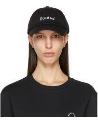 Etudes Studio ブラック Booster ロゴ キャップ