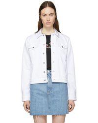 Rag & Bone - White Nico Denim Jacket - Lyst