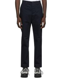 Norse Projects Navy Aros Heavy Trousers - Blue