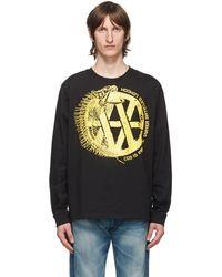 Vyner Articles Black & Yellow Fishbone Long Sleeve T-shirt