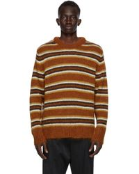 Cmmn Swdn Brown Mohair Striped Sigge Jumper