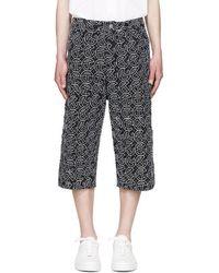 Telfar | Ssense Exclusive Black Embroidered Shorts | Lyst