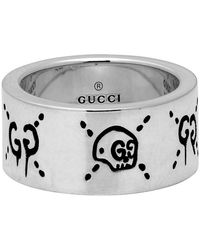 Gucci Silver Large Ghost Ring - Metallic