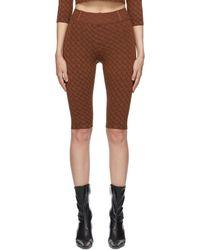Miaou Brown Harley Capri Lounge Pants