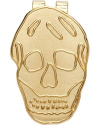 Alexander McQueen - ゴールド Skull マネー クリップ - Lyst