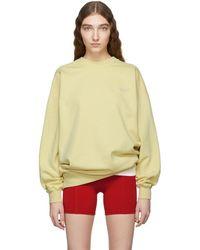 Acne Studios - Yellow Wora Sweatshirt - Lyst