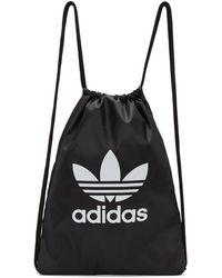 adidas Originals - Black Trefoil Gym Backpack - Lyst