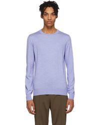 Brioni - Blue Wool Sweater - Lyst