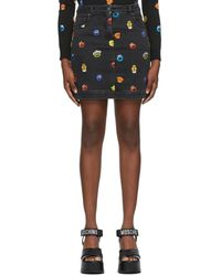 Moschino Sesame Street エディション ブラック ミニスカート