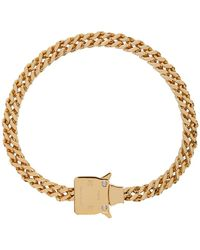 1017 ALYX 9SM Gold Cubix Chain Necklace - Metallic