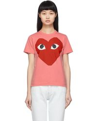 COMME DES GARÇONS PLAY - ピンク ビッグ ハート T シャツ - Lyst
