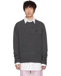 Acne Studios - Grey Nalon Face Sweater - Lyst