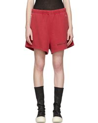Off-White c/o Virgil Abloh - Red Champion Reverse Weave Edition Lounge Shorts - Lyst