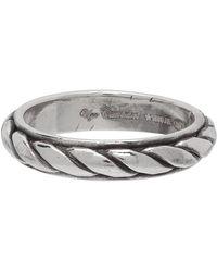 Ugo Cacciatori - Silver Torchon Ring - Lyst