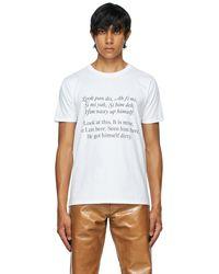 Bianca Saunders Print Patois Translation T-shirt - White