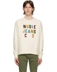 Nudie Jeans - オフホワイト Melvin スウェットシャツ - Lyst