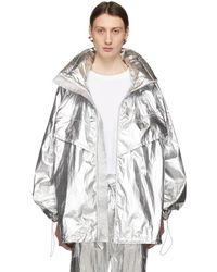 Juun.J - Silver The Altered Tech Zip-up Coat - Lyst