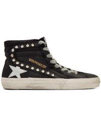 Golden Goose Deluxe Brand Ssense Exclusive Black Stud Slide Sneakers
