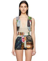 Dolce & Gabbana - マルチカラー Patchwork ベスト - Lyst