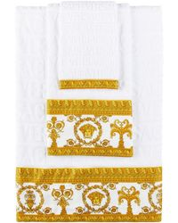 Versace White I Heart Baroque 5 Piece Towel Set