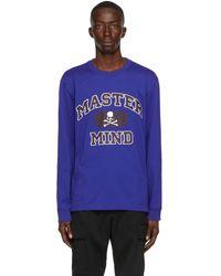 Mastermind Japan ブルー ロング スリーブ T シャツ