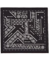 Palm Angels ブラック ブロークン ダウン バンダナ スカーフ