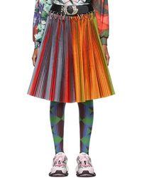 Chopova Lowena Rainbow Pleated Skirt - Red