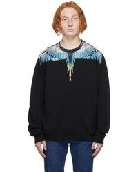 Marcelo Burlon ブラック & ブルー Wings スウェットシャツ