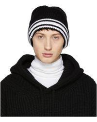 Maison Margiela - Black Knit Beanie - Lyst