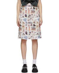 Ashley Williams Multicolour Slip Skirt