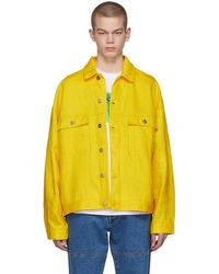 Etudes Studio - Yellow Linen Denim Vertige Jacket - Lyst