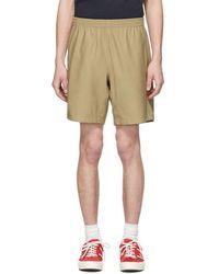 Paa Khaki Sateen Shorts - Natural