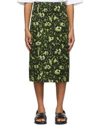 Marni Wild Print A-lined Skirt - Green