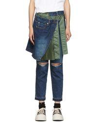 Sacai Jean bleu Skirt