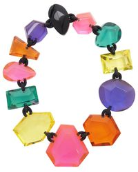 Monies Multicolour Kimberly Necklace - Blue