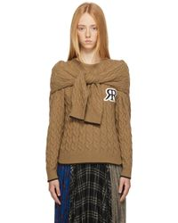 ROKH Brown Cable Knit Double Jumper - Multicolour