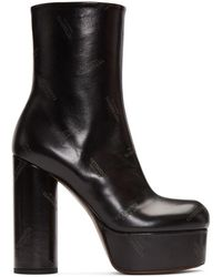 Vetements - Black Logo Platform Boots - Lyst