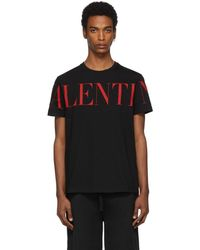 Valentino Print T-shirt - Black
