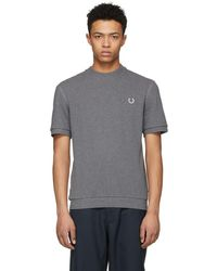 Comme des Garçons - Grey Fred Perry Edition Pique T-shirt - Lyst