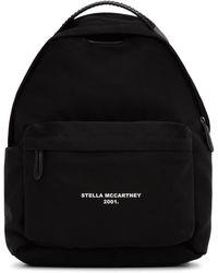Stella McCartney ブラック ロゴ ゴー ファラベラ バックパック