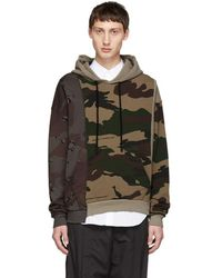 Off-White c/o Virgil Abloh - Pull a capuche camo multicolore Reconstructed - Lyst