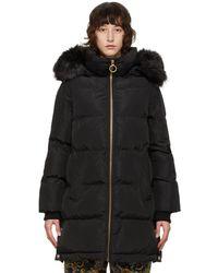 Versace Jeans Couture ブラック Shiny キルティング ジャケット