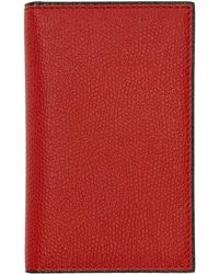 Valextra - Red Business Card Holder - Lyst