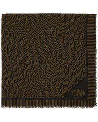 Fendi ブラウン Ff Vertigo ロゴ スカーフ