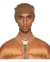 Rick Owens Moyen bonnet brun clair en laine - Marron